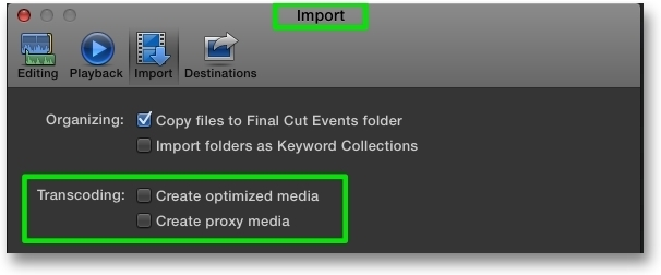 Proxy media final cut pro