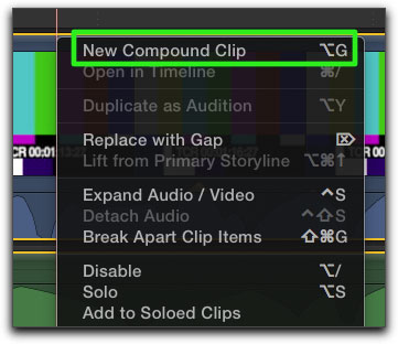 final cut pro how to snap clips