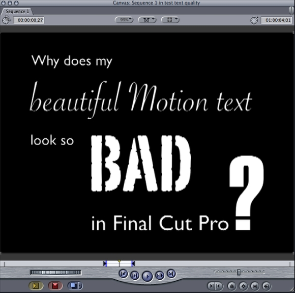 how to insert text in final cut pro