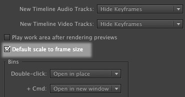 Tutorial: WHEN TO SCALE TO FRAME SIZE IN PREMIERE PRO CS6