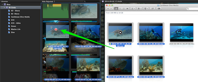 how to delete clips from fcpx