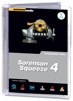 Sorenson squeeze 4 +sn, compression audio video [eng] @ubikom preview 0